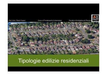 Tipologie edilizie residenziali p g