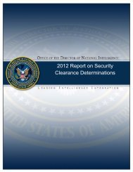 2012 Report on Security Clearance Determinations