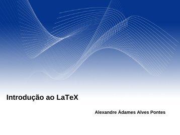 Introdução ao LaTeX - Ufersa