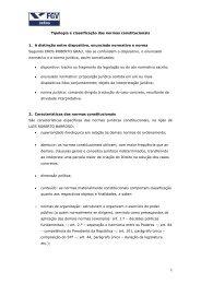 Tipologia e classificação das normas constitucionais 1. A distinção ...