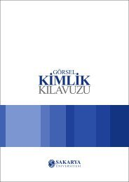 Görsel Kimlik Kılavuzu - Sakarya Üniversitesi Haber Portalı
