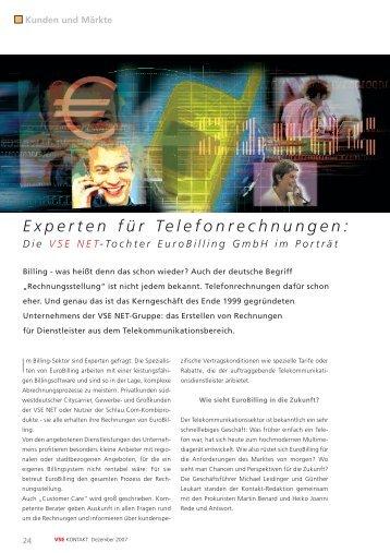Experten für Telefonrechnungen: - VSE Net GmbH