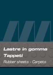 Rubber sheets - Carpets - martinello articoli tecnici spa