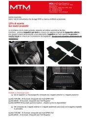 MTM Tappetini per auto e accessori PRESENTAZIONE - IPA COMO