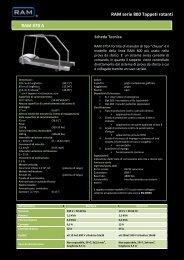 RAM serie 800 Tappeti rotanti RAM 870 A