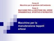 Macchine per la manutenzione tappeti erbosi - Dipartimento di ...