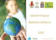 REPORT FINALE BRINDISI UNDER 21 2007 - ECO-logica