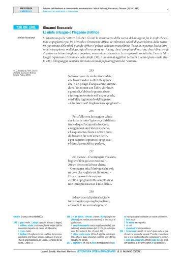 T36 ON LINE Giovanni Boccaccio Le ninfe al ... - Palumbo Editore