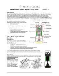 Introduction to Engine Repair – Study Guide