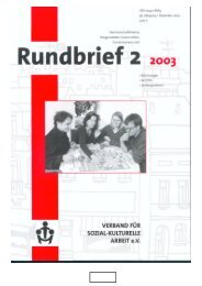 Rundbrief 2/2003 (pdf-Datei) - Verband für sozial-kulturelle Arbeit eV