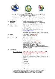 Ausschreibung - VSK Verband Saarländischer Karnevalsvereine