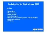 Sozialbericht der Stadt Viersen 2008 - VSOP