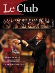 Revue Le Club - hiver 201