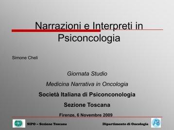 Narrazioni e Interpreti in Pisconcologia - Sipo