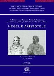 hegel e aristotele - Facoltà di Lettere e Filosofia - Università degli ...