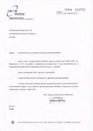 Regolamento per la concessione dei sussidi ai dipendenti dell'INFN ...