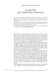 109 124 Storia Archivi del territorio Cremasco - Comune di Crema