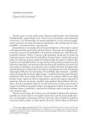 akihiro kanamori L'ipotesi del continuo*