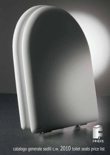 catalogo generale sedili c.w. 2010 toilet seats price list