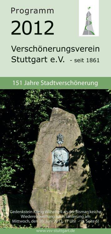 Programm des Verschönerungsvereins aus dem Jahr 2012