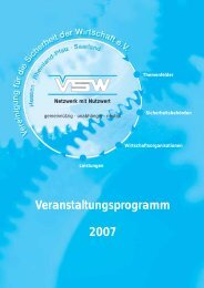 Veranstaltungsprogramm 2007 - Vereinigung für die Sicherheit der ...