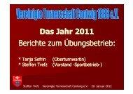 Bericht Sport - Vereinigte Turnerschaft Contwig