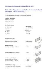 Preisliste – Schlosserware gültig ab 01.01.2011