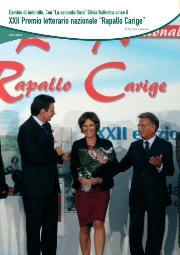 """XXII Premio letterario nazionale """"Rapallo Carige"""" - Banca Carige"""