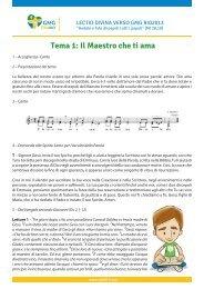 Tema 1: Il Maestro che ti ama