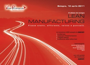 lean manufacturing - Value Performance