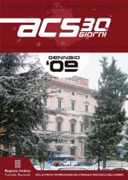 Gennaio 2009 - Consiglio Regionale dell'Umbria