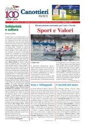 Scarica il PDF del Giornale – Ottobre 2011 - Circolo Canottieri Irno