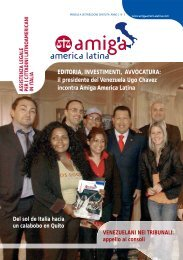 il presidente del Venezuela Ugo Chavez incontra Amiga America ...