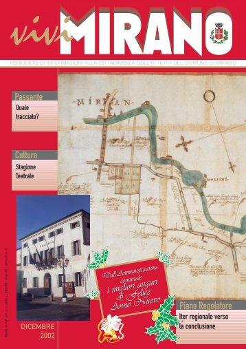 Anno V n. 4 dicembre 2002 - Comune di Mirano