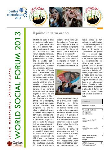 dossier WSF - Caritas Italiana