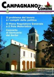 Dicembre 2010 - Comune di Campagnano di Roma