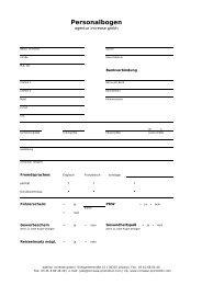 Personalbogen - Increase GmbH