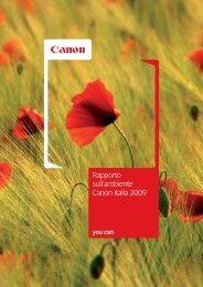 Rapporto sull'ambiente Canon Italia 2009
