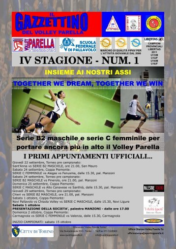 clicca qui per leggerlo - Volley Parella Torino