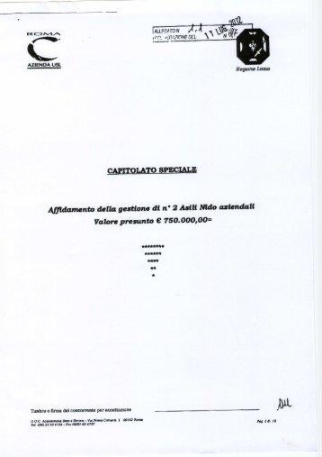 Capitolato di gara asili nido015.pdf - ASL Roma C