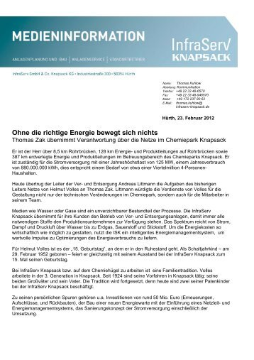 Ohne die richtige Energie bewegt sich nichts - InfraServ GmbH & Co ...