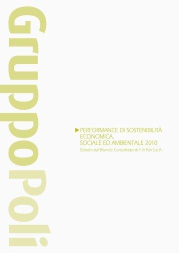 Relazione di Gestione 2010[scarica] - Il Gruppo Poli
