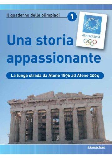 """Quaderno delle Olimpiadi"""" a cura di Augusto Rosati - Lo sport italiano"""
