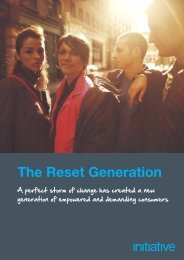 The Reset Generation - Initiative