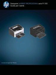 HP LASERJET PROFESSIONAL P1100 Printer series User Guide ...