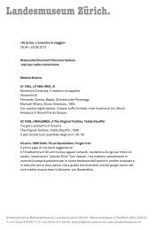 Didascalia Documenti Svizzera italiana