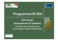 Presentazione dei progetti finanziati - ELISA
