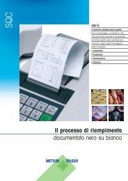 Il processo di riempimento documentato nero su bianco - METTLER ...