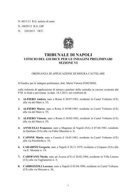 Tradefleet Development Srl Firenze.Clicca Qui Per Leggere L Intera Ordinanza Emessa Dal