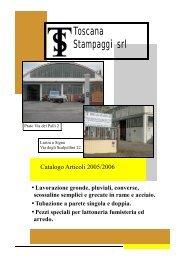 Catalogo idraulico - TOSCANA STAMPAGGI srl